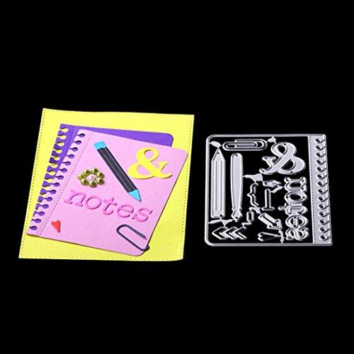 FNKDOR Embossing Machine Prägeschablonen Scrapbooking Stanzschablone Schablonen Stanzformen, Zubehör für Sizzix Big Shot und Andere Stanzmaschine (D) (Halloween-karte Happy Sprüchen Mit)