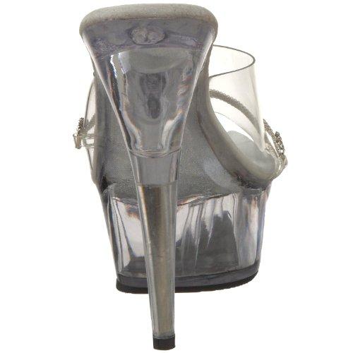 Pleaser DEL601-10/R/C Mules Femmes Silber