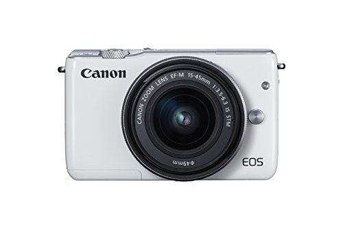 Canon EOS M10 Mirrorless Camera Kit with EF-M 15-45mm Image Stabilization STM Lens Kit (White)  available at amazon for Rs.68200