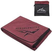 FALCKENSTEIN® Mikrofaser Reisehandtuch • jetzt noch kompakter ✈️ (Rot, 160x80 cm)