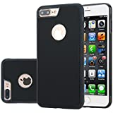 Para iPhone 7 Plus Funda CaseforYou Anti-Gravity Adsorption Case Magical Sticky Snap-On Back Cover Shell Protector, Negro