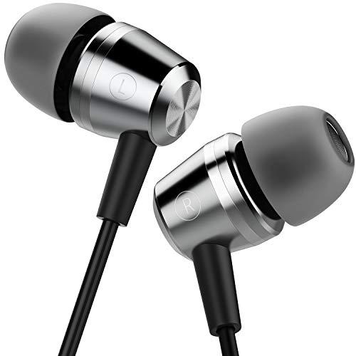 Auriculares In Ear,  Blukar Auriculares con Cable y Micrófono Headphone Sonido Estéreo para Samsung Galaxy,  Huawei,  XiaoMi,  PC,  MP3/MP4 Android y Todos los Dispositivos de Auriculares de 3, 5 mm