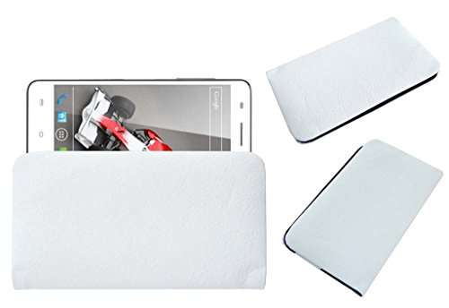Acm Rich Leather Soft Case For Xolo Q3000 Mobile Handpouch Cover Carry White  available at amazon for Rs.389