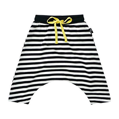 (Mädchen Lose Hosen Kinder Unisex Kinder Harem Hosen Kostüm Jungen Voller Länge Streifen Hosen für Kinder Höhe 73-110cm)