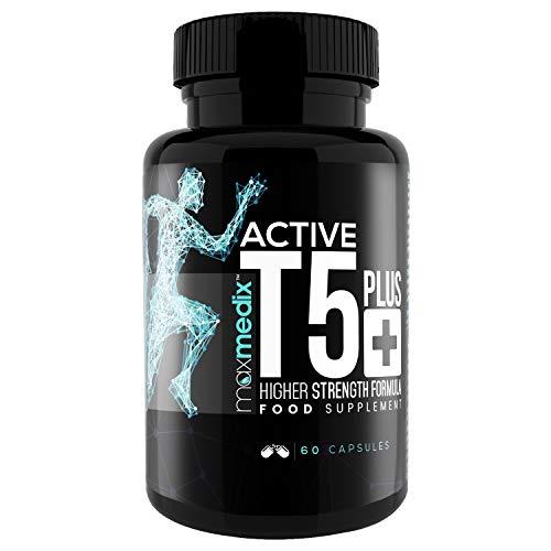 Active T5 Plus Fatburner Kapseln   Natürlich Fat Burner T5 Black zum schnell Abnehmen   Koffein für Thermogenese   Thermo Tabletten für Fitness & Sport   Stoffwechsel Booster   Männer & Frauen