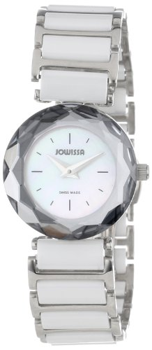 Jowissa Safira 99 Women's Quartz Watch with Mother of Pearl Dial Analogue Display and White Ceramic Bracelet J1.002.S
