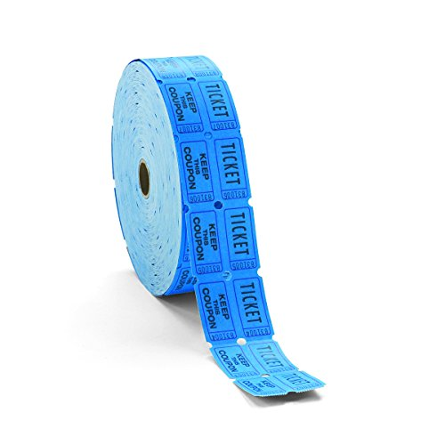 Generations Consecutively Numbered Double Ticket Roll, Blue, 2000 Tickets per Roll (PMC59004) (Single Roll Tickets)