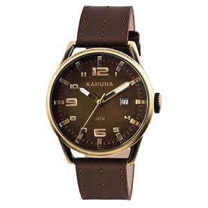 Kahuna KUS-0084G – Reloj para Hombres, Correa de Cuero Color marrón