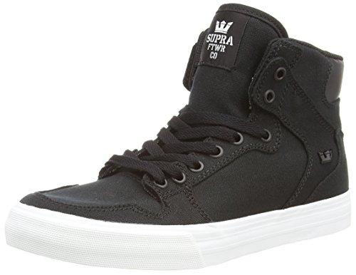 SupraVAIDER D - Sneaker alta Unisex - Adulto, Nero (BLACK - WHITE BLK), 44