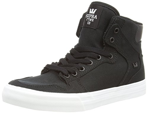 Supra Vaider D, Unisex-Erwachsene Hohe Sneakers, Schwarz (Black - White BLK), 44.5 EU (9.5 Erwachsene UK) (Dc Skateboard Black Schuh)