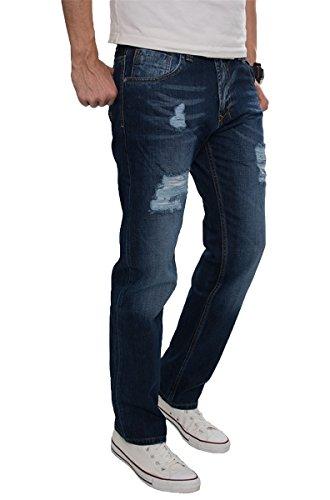 Lorenzo Loren Jeans Hose Herrenjeans Blau Used Look Denim Vintage LL-2515 W38 L34 (Look-jeans-rock Klassischen)