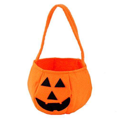 Blue Vessel Halloween-Kürbis-Beutel-Taschen-Halloween-Stützen Korb-Nichtgewebter Süßigkeits-Beutel-Stereokürbis-Beutel