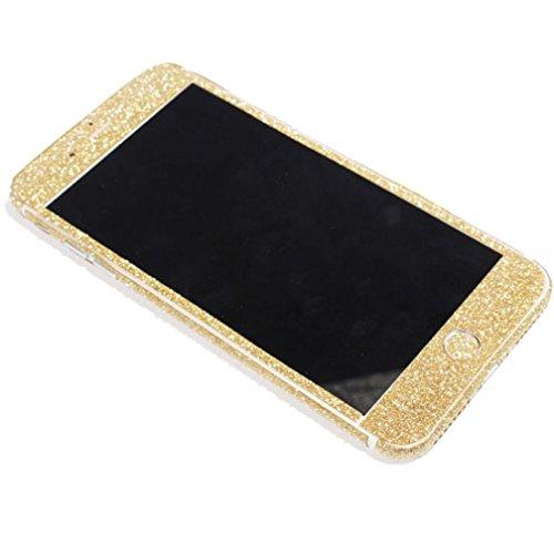 Preisvergleich Produktbild Omiky® Bling Ganzkörper Wrap Aufkleber Glitter Sticker Film Für iPhone 7Plus 5.5Inch (Gold)