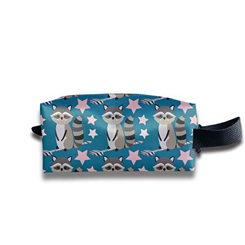 Star Racoon On Indigo_2907 Tragbare Reise Make-up Kosmetiktaschen Organizer Multifunktions Fall Taschen für Unisex