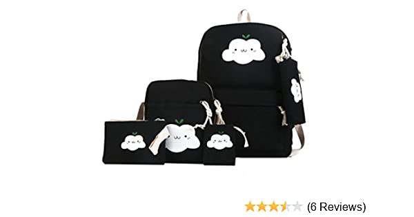 11a944c52dac antifiction Canvas Black 5-in1 Kit Set Combo of College Bag Messenger Bag   Purse Pencil Pouch Potli  Amazon.in  Bags