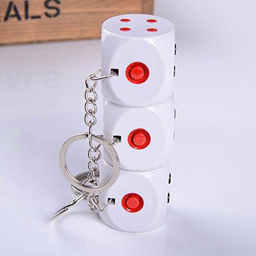 druck-elektrischer Schock-Würfel-Schlüsselring-Witz-Trick-Streich-Spielzeug - Partei-Bevorzugungen für Partei, Halloween, Weihnachtslustige Spiele ()