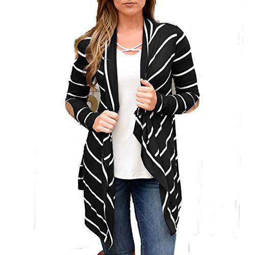 Snyemio donna cardigan drappeggiato lavorato a maglia primavera autunno aperto davanti giacca tops