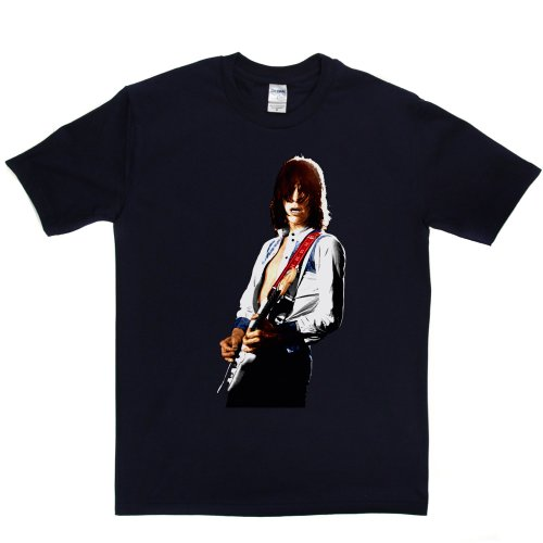 Jeff Beck English Rock Guitarist Colour T-shirt Marineblau