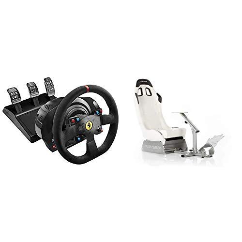 Thrustmaster T300 Integral Rw Volante, Alcantara Edition - PC/PS4/PS3 + Playseat Evolution White - Nuovo modello
