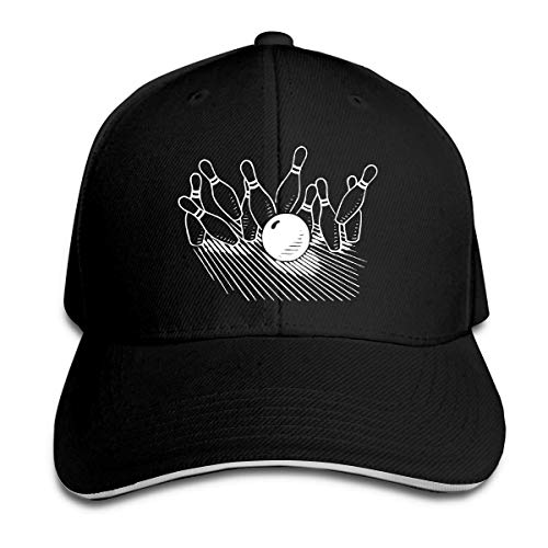 dfjdfjjgfhd Men & Women Bowling Ball Striking Bowling Trucker Caps Baseball Kappe Opa Womens Cap