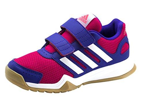 Adidas Kinder Hallenschuhe Sportschuhe interplay CF K Mädchen/Jungen, Schuhgröße:32;Farbe:Pink