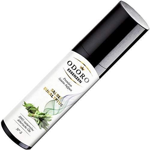 Saunaaufguss Duft Salbei Eukalyptus - 100% ätherische Öle - Premium Aufguss Konzentrat (100ml) - Natürliches Aufgussmittel, naturreine Saunaaufgüsse -