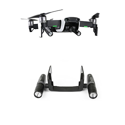 Kismaple Mavic Air Flash Luce a LED Kit, Decorativo Regolabile a 360 Gradi Lampada Notturna a LED per DJI Mavic Air Drone
