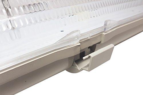 Plafoniera Stagna 120cm : Plafoniera led stagna attacco doppio tubo neon t cm esterno