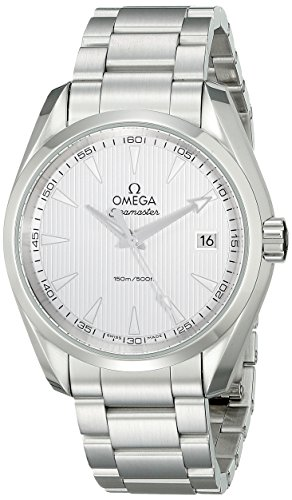 Omega Men's Quartz Watch with Black Dial Analogue Display Quartz Stainless Steel 23110396002001