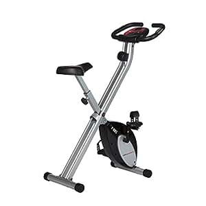 Ultrasport F-Bike, Bici da Fitness Pieghevole con Computer di Allenamento e Sensori delle Pulsazioni, Peso Massimo Utente Fino a 100 kg Unisex – Adulto, Nero