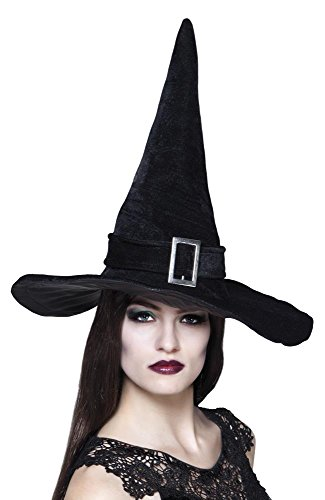 Peeks Black Velveteen Buckle Halloween Fancy Dress Costume Outfit Witches ()