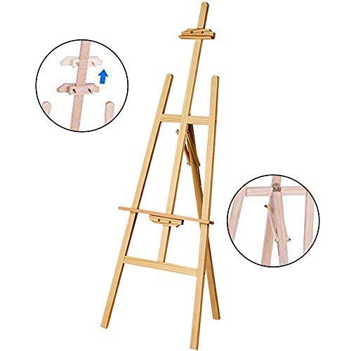 JueYan Chevalet en bois réglable - Pliable Léger - Hauteur et Inclinaison Réglable - Hauteur: 150cm