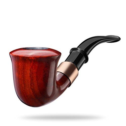 A.P. Donovan - Holz-Tabak-Pfeife klassisch handgemacht (auch für Einsteiger / Anfänger) aus Mahagoni Echtholz - für 9mm Filter - Xaman Ek (Tabak Feuerzeug Pfeife Und)
