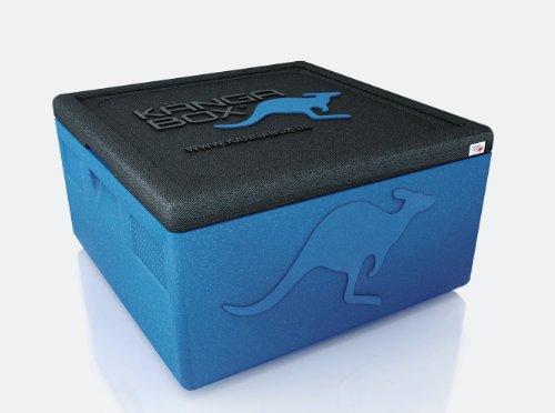 KÄNGABOX Easy S, EY1265BU blau, innen Ø 35 cm, außen 410x410x330 mm, Inhalt 32 l. Thermobox für Pizza, Kuchen und Torten. Stabile, leichte, stapelbare Kühlbox. Für Catering, Konditorei und Lieferservice. -