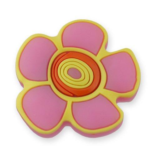 MyGrips GM-02 Kindermöbel Knopf Blumen Türknopf / nauf, rosa / gelb Rosa Blume, Knöpfe Für Kommoden
