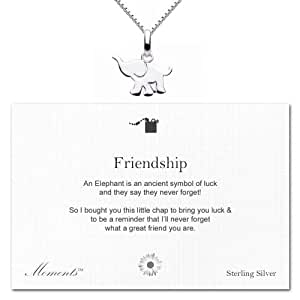 Moments 'Friendship' Sterling Silver Elephant Necklace
