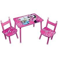 Preisvergleich für Unbekannt Fun House Disney Minnie Tisch mit 2Stühle für Kinder, MDF/Metall, 60x 40x 44cm