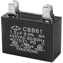 CBB61 1.5uF 4 terminal de ventilador de techo rectangular condensador del motor AC450V