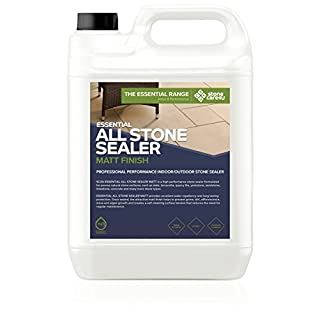 Stonecare4u - Essential All Stone Sealer MATT 'Dry' Finish - Eco Friendly, Highly Effective Sealer for Natural Stone Patio's, Paving or Floors, Easy to Apply (5 Litre)