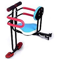 JT Fahrrad Front Kindersitz Voller Umfang Baby-Sitze Universelle Quick-Release-Falten,Blue,45X30CM