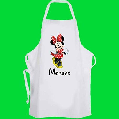 Tablier de cuisine Minnie Mouse personnalisé pour enfant Motif Disney