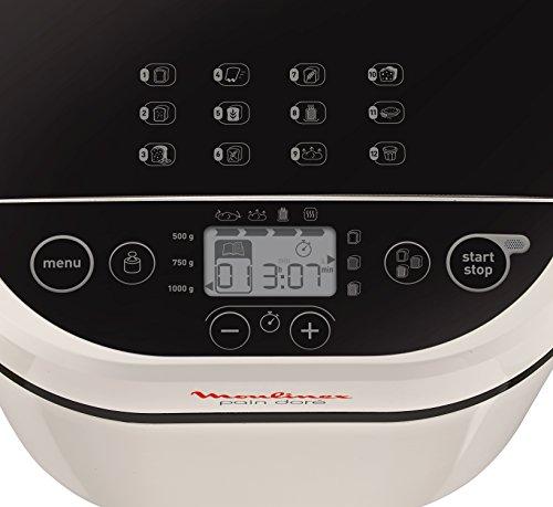 confronta il prezzo Moulinex OW2101 Pain Plaisir Macchina per il Pane, Capacità 1 kg, 12 Programmi Automatici miglior prezzo