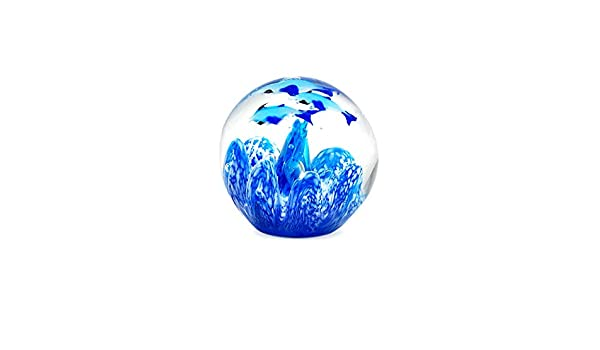 Vetro Signes Grimalt Fermacarte Pesci 7 cm Blu