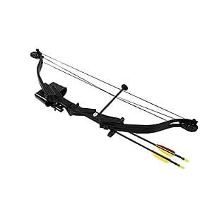 Compound-Bogen bestehend aus 25 lbs und 185 fps. Hellbow-Bogen für Rechtshänder, ideale schwarze farbe, für den Einstieg und zum Lernen