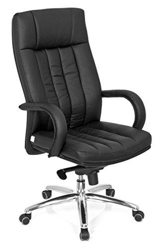 hjh OFFICE 724200 Chefsessel Bürostuhl XXL G 300 Kunstleder schwarz, bequeme dicke Polsterung, ideal für das Büro oder Home Office, Drehstuhl, Bürostuhl Sessel,Chefsessel ergonomisch, Chefsessel 150Kg