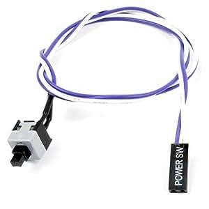 sourcingmap® 50cm Violet White Power Interrupteur Flexible Bouton Cable pour ordinateur PC