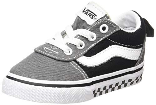 Vans Unisex Baby Ward Slip-on Canvas Sneaker, Mehrfarbig ((Checker Tape) Pewter/Black V0w), 22.5 EU (Canvas-tape)