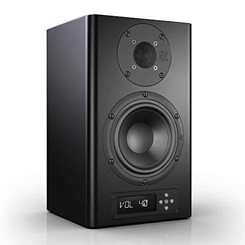 Nubert nuPro A-200 Regallautsprecher | Lautsprecher für Stereo & Musikgenuss | Heimkino & HiFi Qualität auf hohem Niveau | aktive Regalbox mit 2 Wege Technik | Kompaktlautsprecher Schwarz | 1 Stück