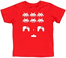Hippowarehouse Space Invaders Kids Children's Short Sleeve t-Shirt