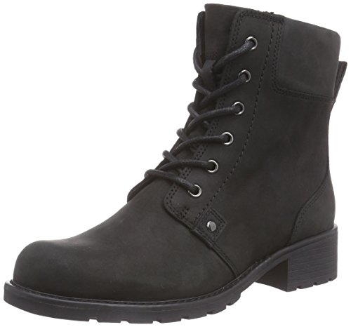 Clarks Women's Orinoco Spice Cold lined classic boots half length Black, 4.5...